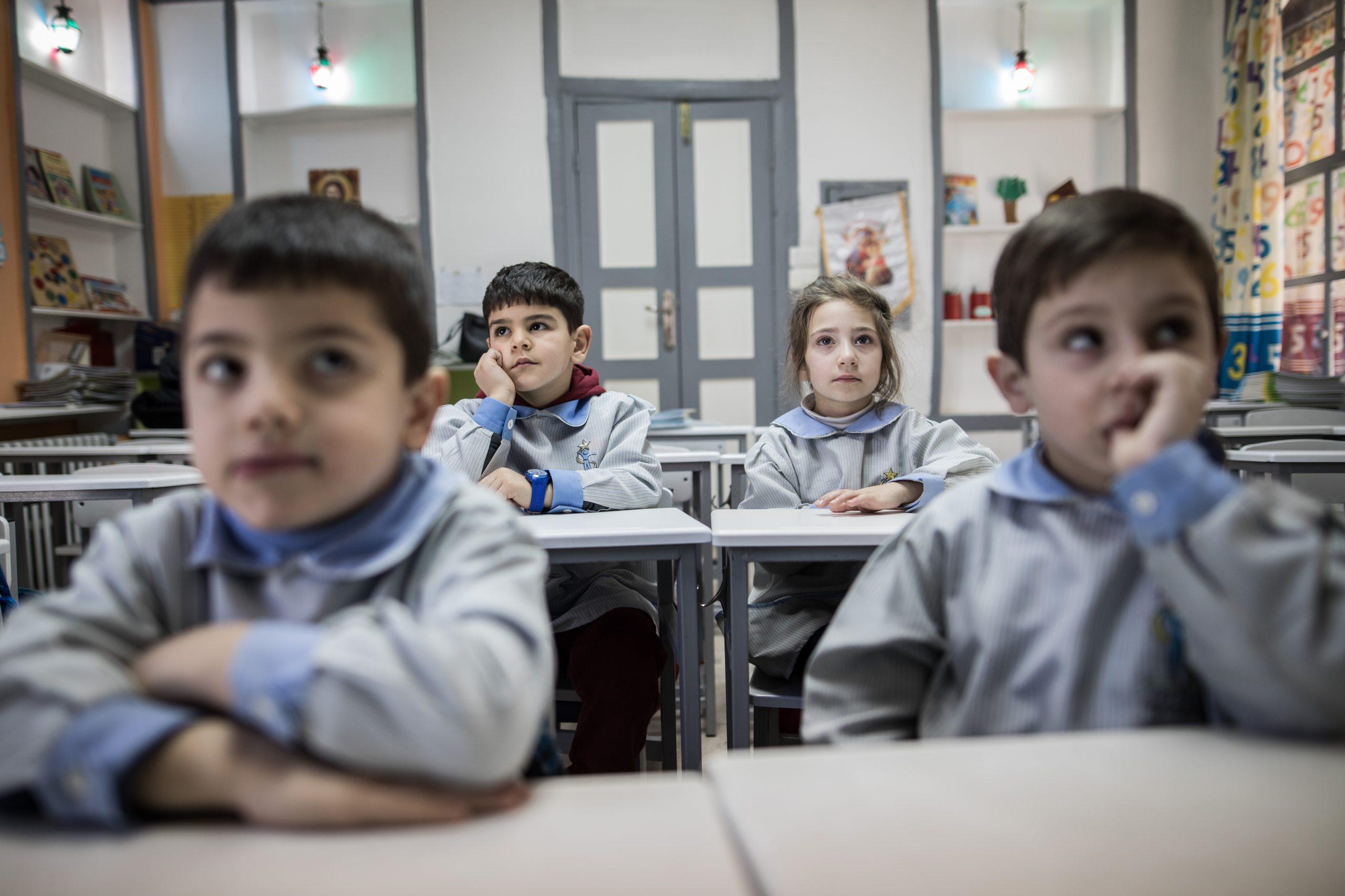Enfants scolarisés Terre Sainte